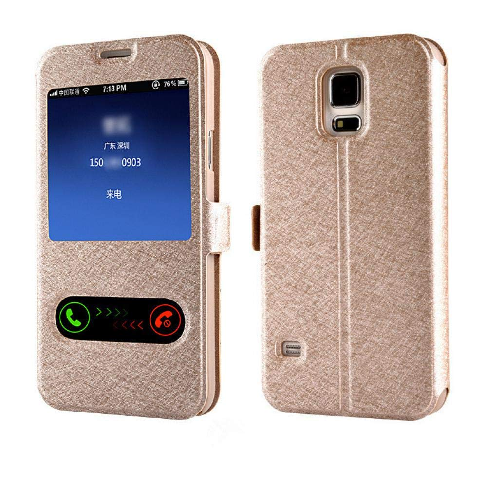 Amazon.com: Luxury Smart Front Window View Leather Flip Case ...