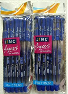 5 x Pack GENUINE DELUXE LINC SAFRON MAX BLACK BLUE GEL FINE BALLPOINT PENS