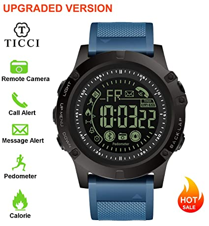 Upgraded T3 Electronic Fitness Tracker Digital Sports Bluetooth Smart Watch Waterproof Pedometer Remote Camera Incoming Call or Message Notification ...