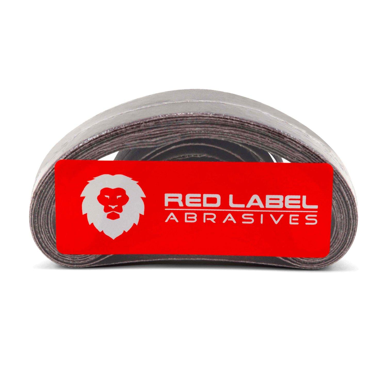 1/2 X 12 Inch 220 Grit Aluminum Oxide Air File Sanding Belts, 20 Pack by Red Label Abrasives (Image #3)