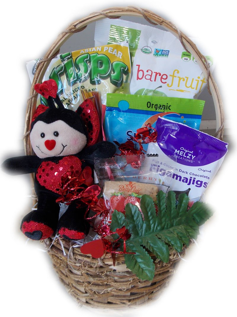 Little Valentine's Healthy Gift Basket for Children by Well Baskets