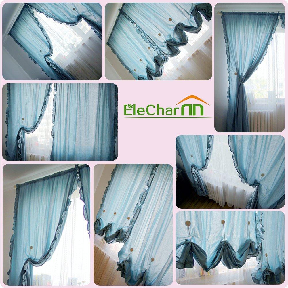 EleCharm 1 Pair Magnetic Drapery Tiebacks Clip Resin Milk White Flower Curtain Buckle by EleCharm (Image #2)