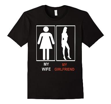 713mXLUi5YL._UX385_ amazon com my wife my girlfriend funny hot meme t shirt clothing