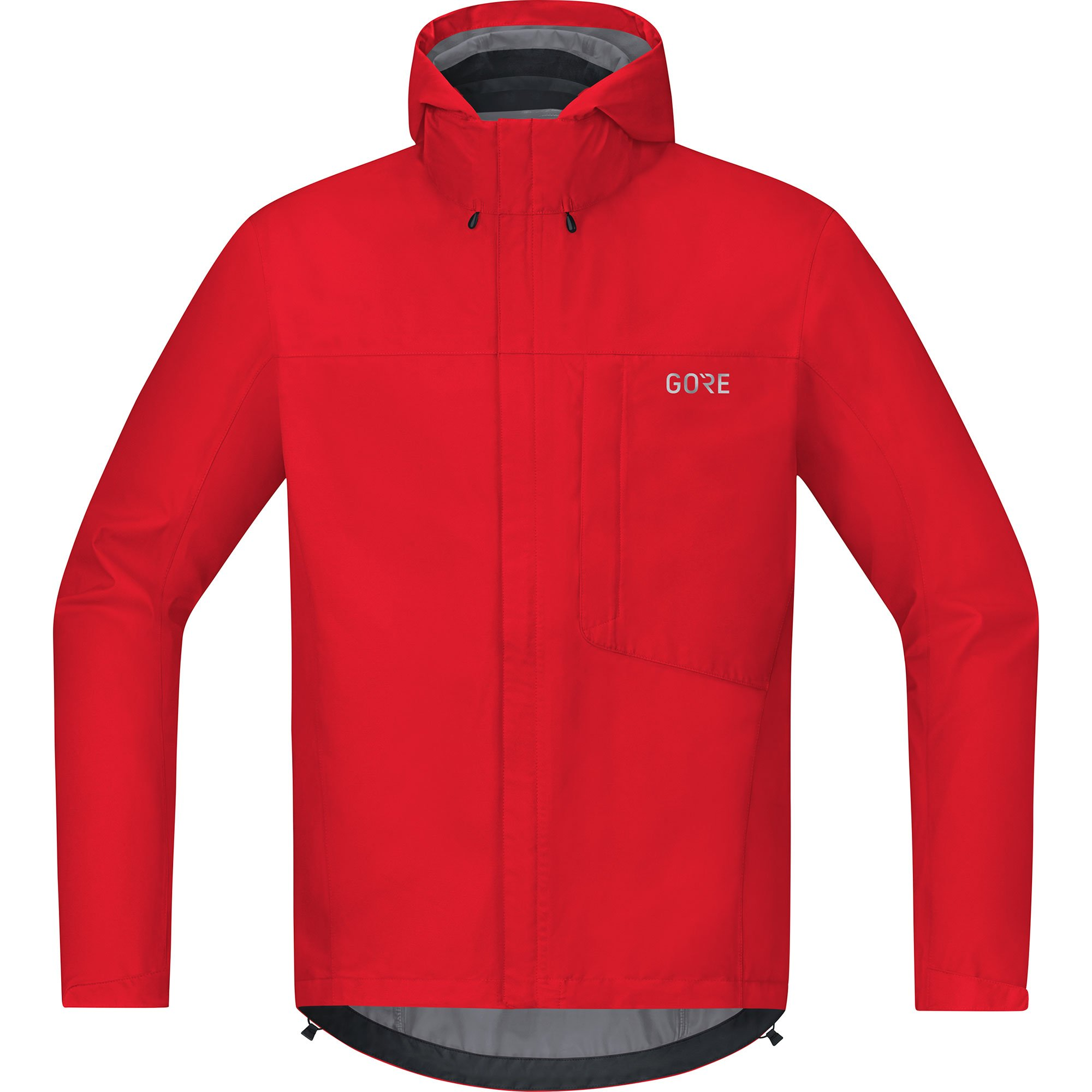 Gore Wear Men's Waterproof Hooded Bike Jacket, C3 TEX Paclite Hooded Jacket, Size: M, Color: red, 100036 by Gore Wear