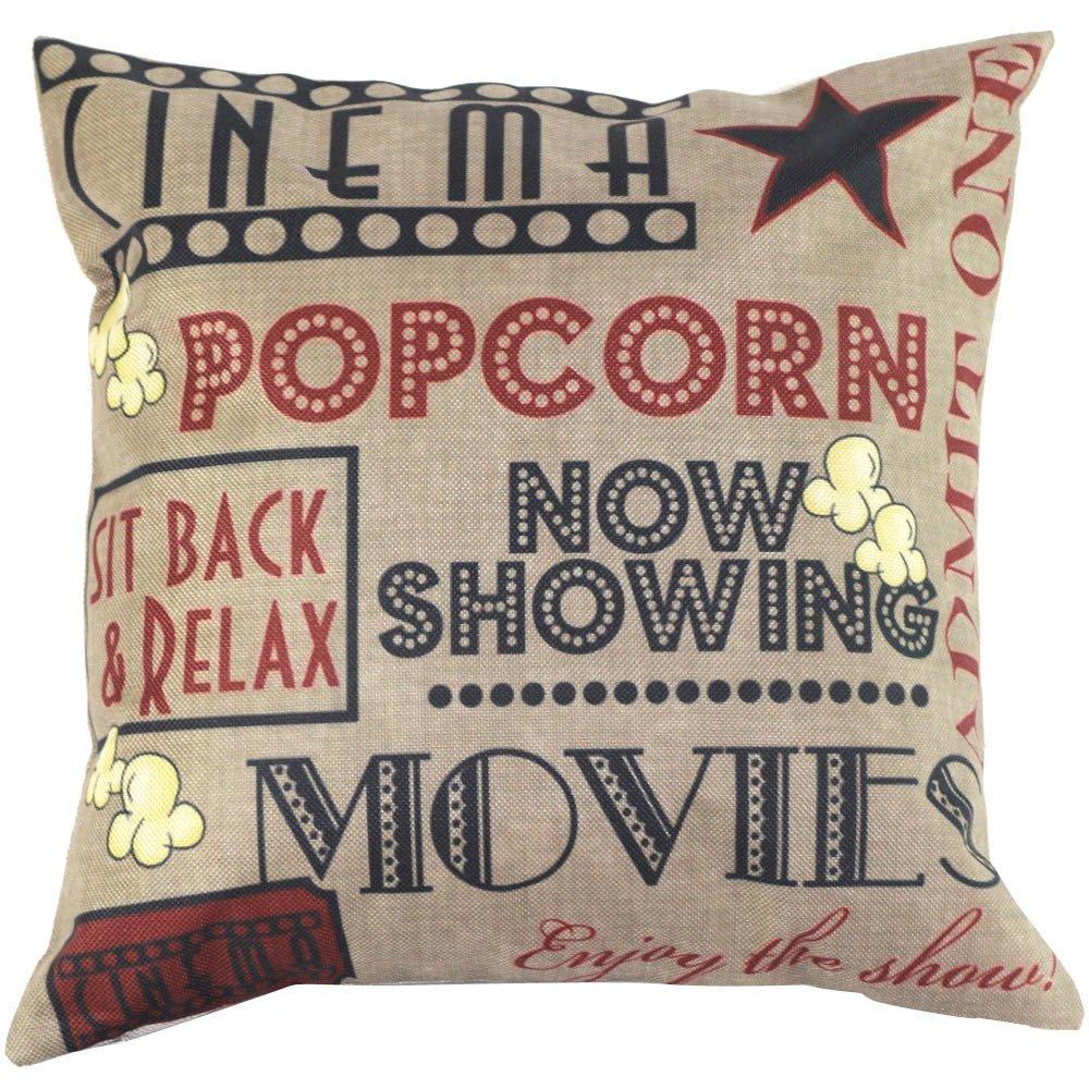 Iuhan® Fashion Vintage Cotton Linen Blend Cushion Cover Throw Pillow Case