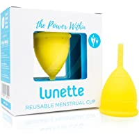 Lunette Menstrual Cup (Model 1(for light to normal flow), Yellow)