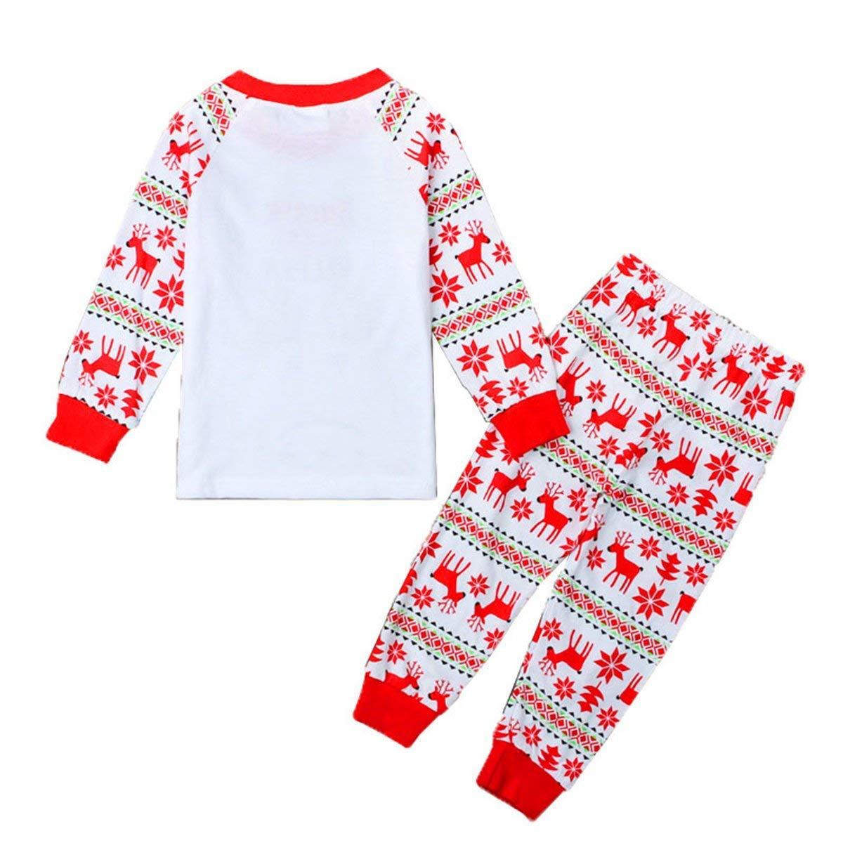 Boys Girls Christmas Pajamas Set Kids Cotton Pjs Long Sleeve Sleepwear Winter Homewear Clothes 2-7 Years
