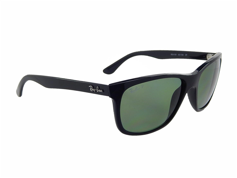010e927deb Ray Ban RB4181 601 9A Black Green Classic Polarized 57mm Sunglasses   Amazon.co.uk  Clothing