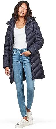 G-STAR RAW Whistler Slim Down Hooded Long Abrigo para Mujer