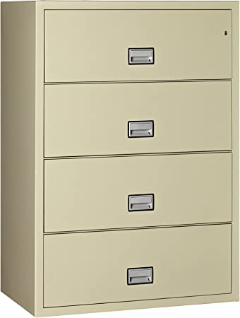 Putty Phoenix Lateral 38 inch 4-Drawer Fireproof File Cabinet with Water Seal