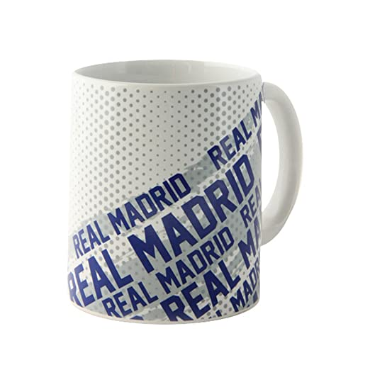 Real Madrid CF Official Impact Ceramic Football/Soccer Crest Mug (One Size) (