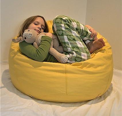 Super Amazon Com Comfy Bean Beanbag Small Vinyl Yellow Kitchen Frankydiablos Diy Chair Ideas Frankydiabloscom