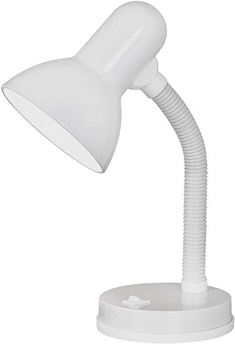 Eglo BASIC E27 Color blanco lámpara de mesa - lámparas de mesa ...