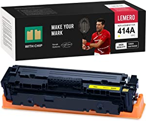 LEMERO (with Chip) Remanufactured Toner Cartridge Replacement for HP 414A W2022A to use with Color Laserjet Pro MFP M479fdw M479fdn M454dw M454dn (Yellow, 1 Pack)