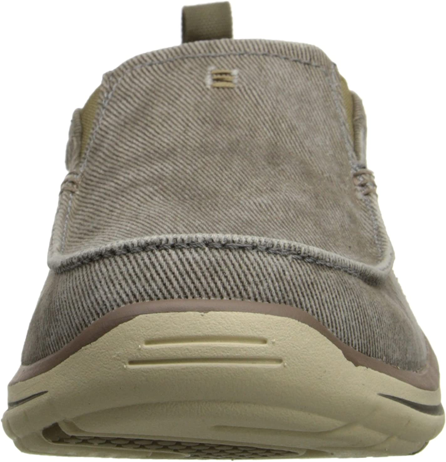 Skechers Men's Relaxed Fit-Elected-Drigo Slip-On Loafer Taupe