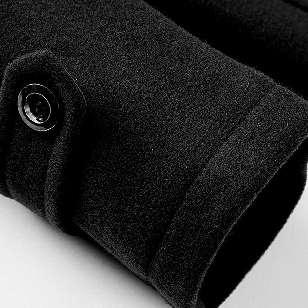 Fabal Fashion Business Windbreaker Mens Long Section Thickening Slim Woolen Coat Coat