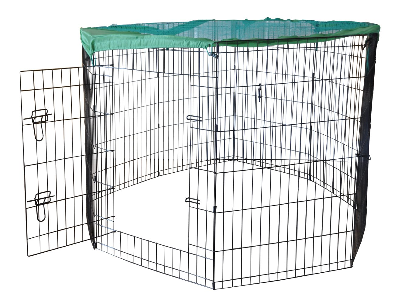 36\ Cool Runners Wire X Pen with Sun Rain Security Covers and Gate (36-Inchs High x 24-Inchs Wide Per Section)