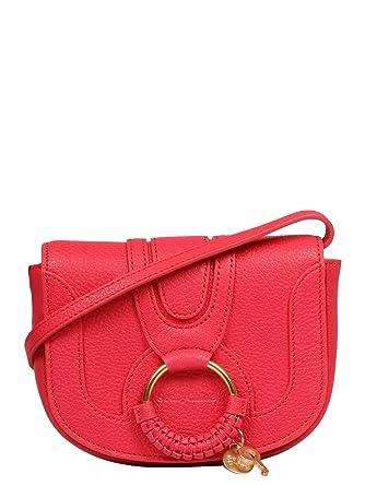 cb8cf51c21 See by Chloé Femme Chs17as9013056x7 Rouge Cuir Sac Porté Épaule: Amazon.fr:  Vêtements et accessoires