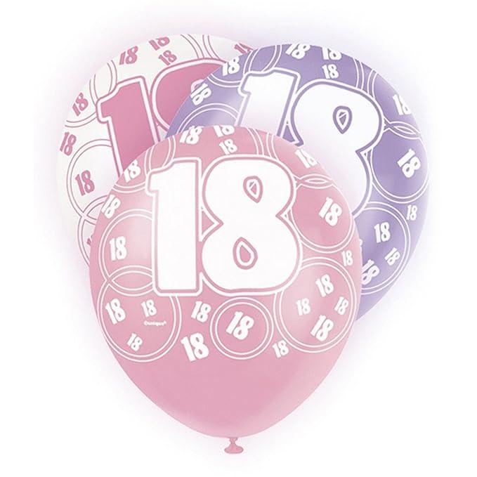 Unique Party - Globos rosa variados 18th Birthday/ 18 ...