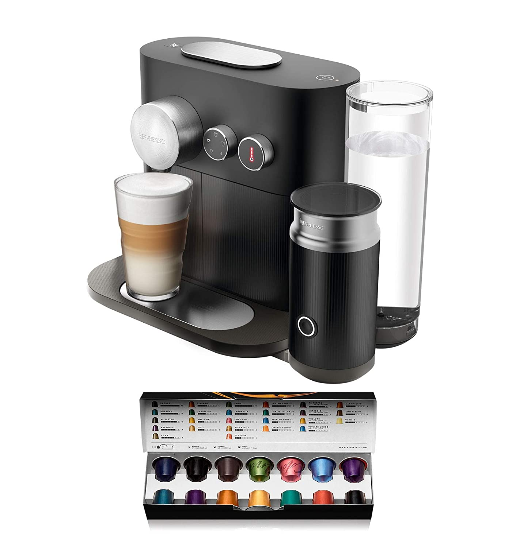 Nespresso Krups Expert Milk XN6018 - Cafetera monodosis de cápsulas Nespresso con aeroccino, controlable con smartphone via bluetooth, recetas ...