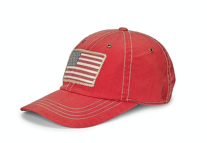 Polo Ralph Lauren Pantalón Chino American Flag Logo Gorra de béisbol rojo: Amazon.es: Ropa y accesorios