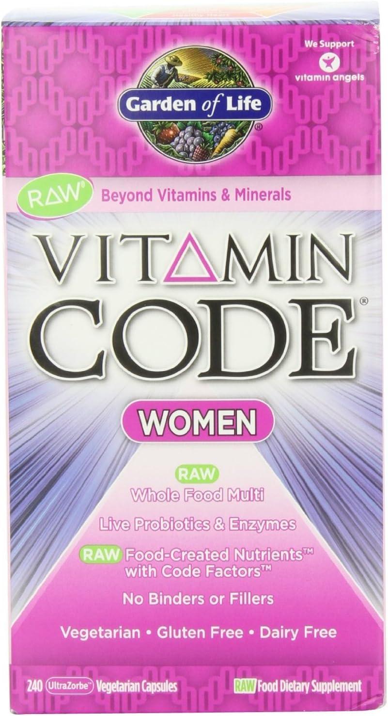 Garden of Life Vitamin Code Raw Women s Multivitamin, 480 Capsules