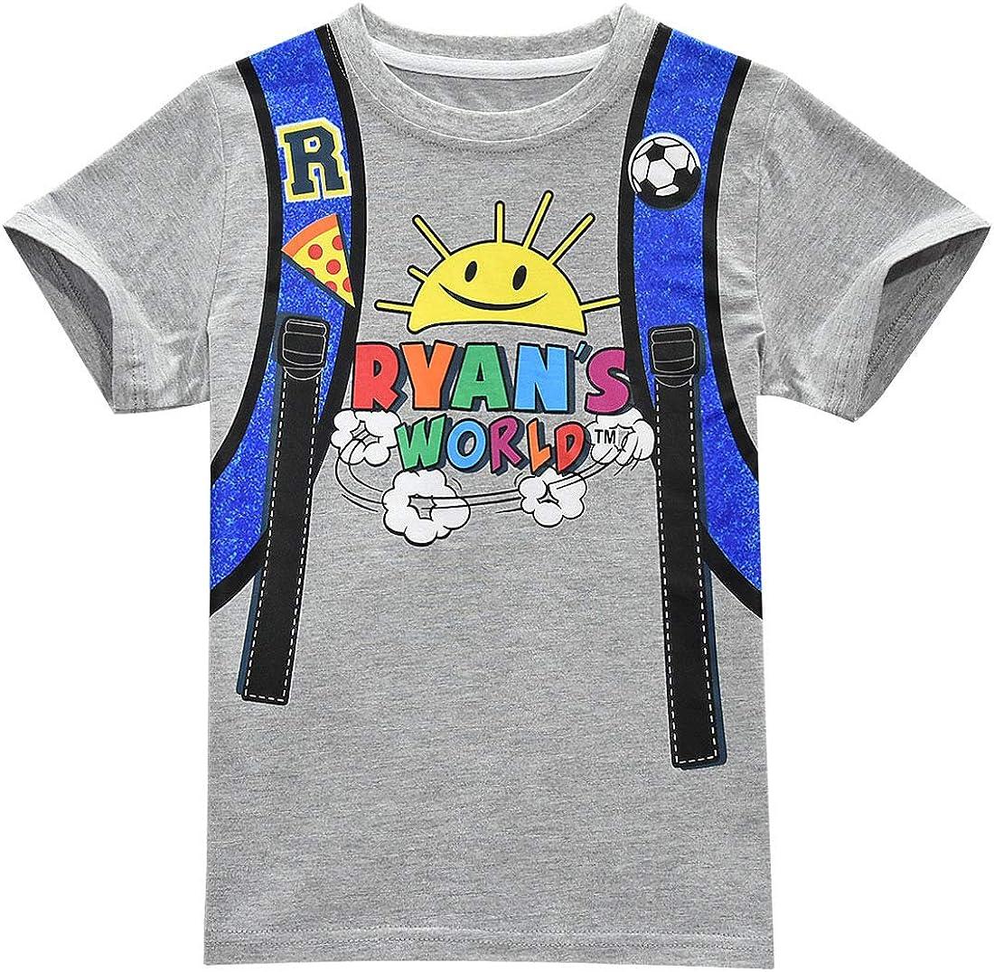 ShiJinShi Little Boys T-Shirt Ryans World Short Sleeve Clothes Set