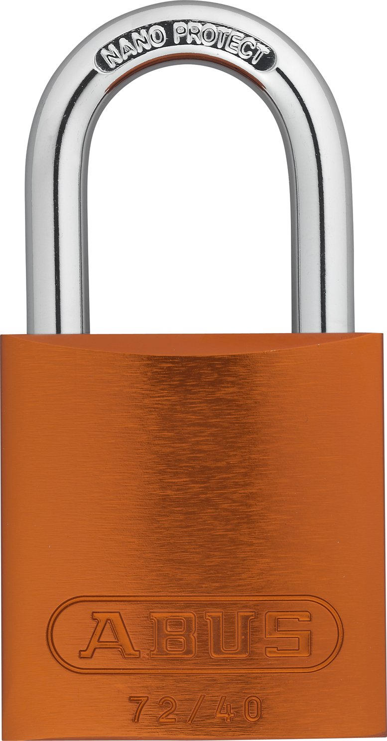 ABUS 72/40 KD Safety Lockout Aluminum Keyed Different Padlock with 1-Inch shackle, Orange