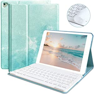 iPad 6th Generation Cases with Keyboard iPad 9.7 2018(6th Gen) 2017(5th Gen) iPad Pro 9.7 iPad Air 2 & 1 Keyboard Case Bluetooth Keyboard Case Cover Ultra-Thin Auto Sleep Wake Tablet Case