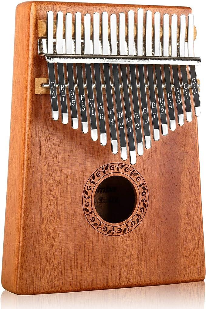 Piano de Madera Maciza para Dedo Pulgar de Acacia de Caoba Africana Instrumento Musical Kalimba OTOTEC Juguete port/átil para Principiantes