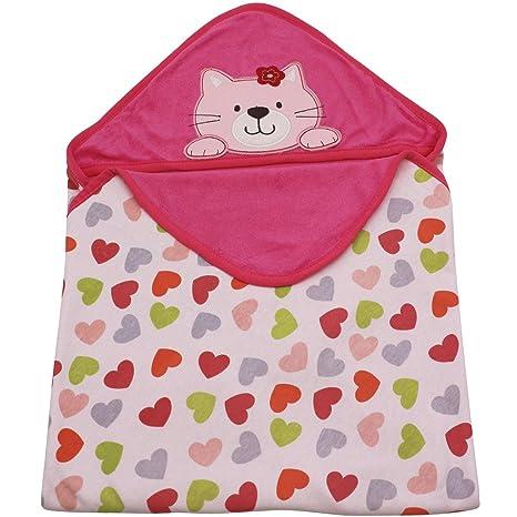 Minizone Manta para Bebé Toalla con capucha Recién Nacido Mantas envolventes 100% algodón Diseño Original