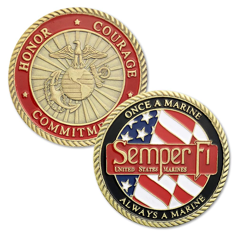 United States Marine Corps Challenge Coin Creed Semper Fidelis