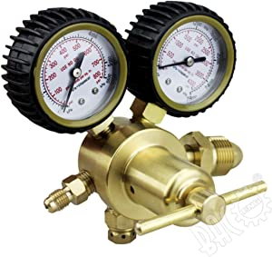 BACOENG Nitrogen Regulator with 0-500 PSI Delivery Pressure, Inlet Connection and 1/4-Inch Male Flare Outlet Connection