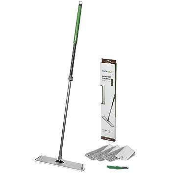 Homevative 20u0026quot; Stainless Steel Microfiber Floor Mop Kit /w 3 Pads And  Detailer