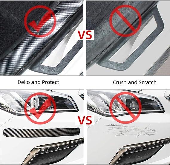 Rupse Schutzband Flexibel Selbstklebend Für Autotüren Stoßstange Vorne Und Hinten Gegen Kratzer Universal Klebeband Breite 5 Cm Länge 3 M Auto