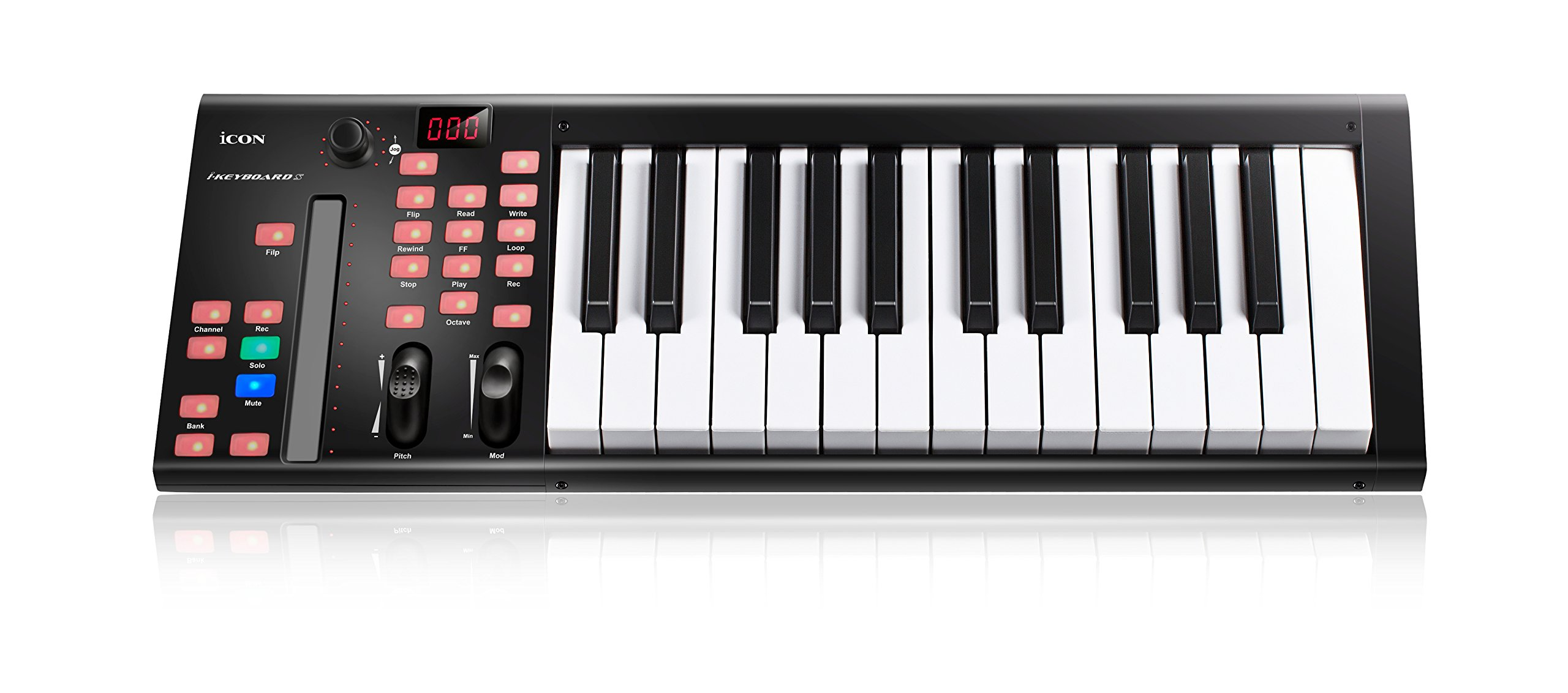 Icon ICOK-IKEYBOARD3X iKeyboard 3X - 25-Key MIDI keyboard semi-weighted keys with single channel DAW controller