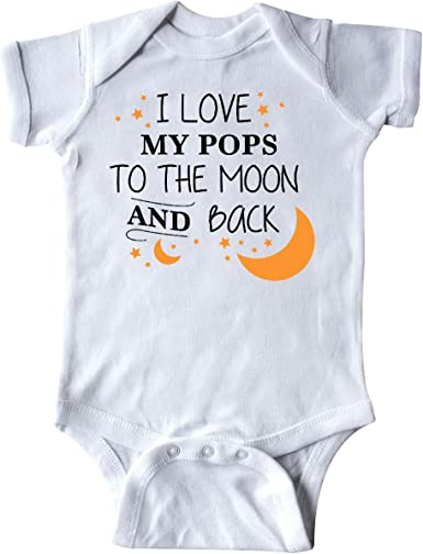 inktastic I Love My Pops to The Moon and Back Long Sleeve Creeper