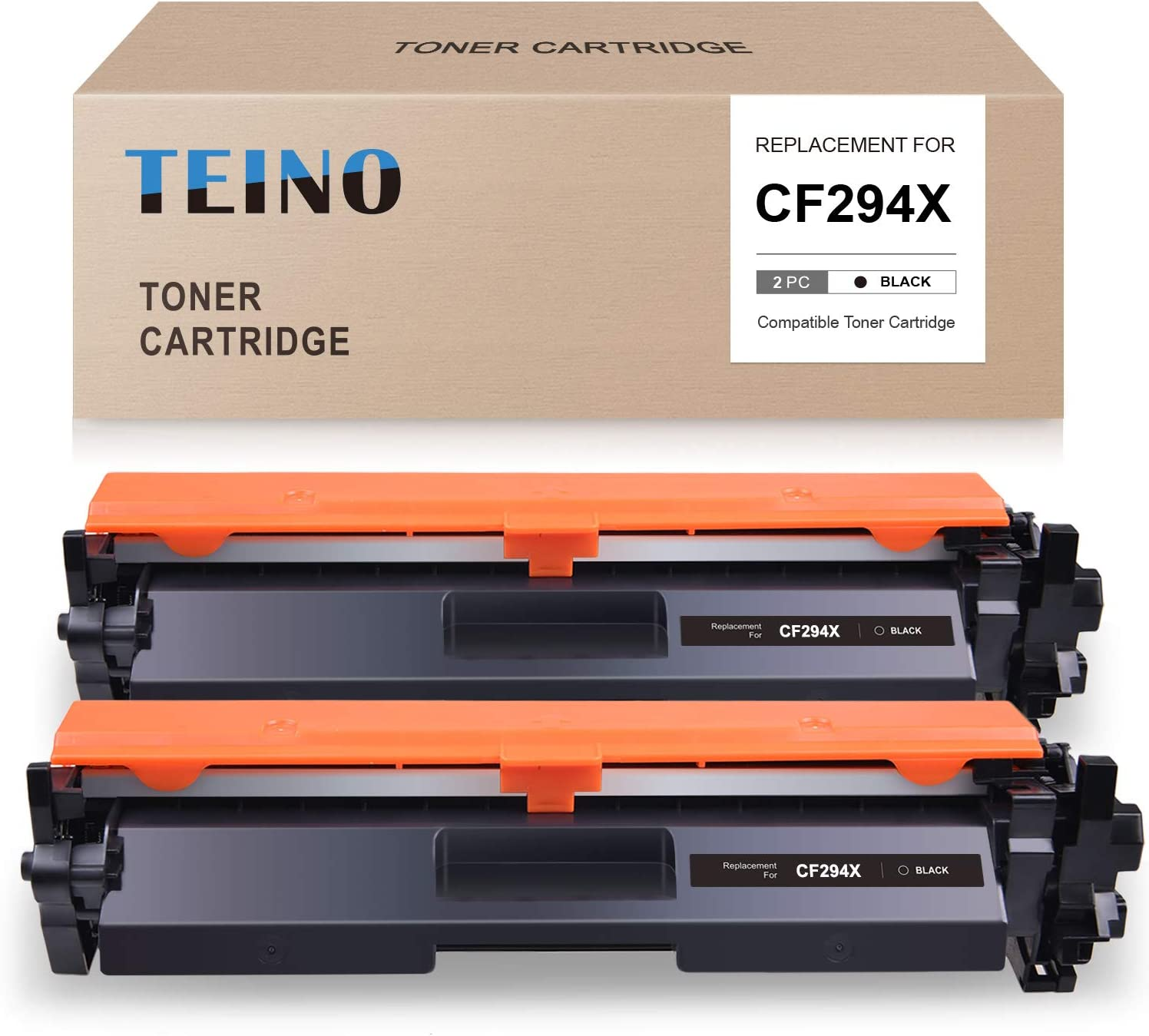 TEINO Compatible Toner Cartridge Replacement for HP 94X CF294X 94A CF294A use with HP Laserjet Pro M118dw M118 Laserjet Pro MFP M148dw M148fdw M149fdw (Black, 2-Pack)