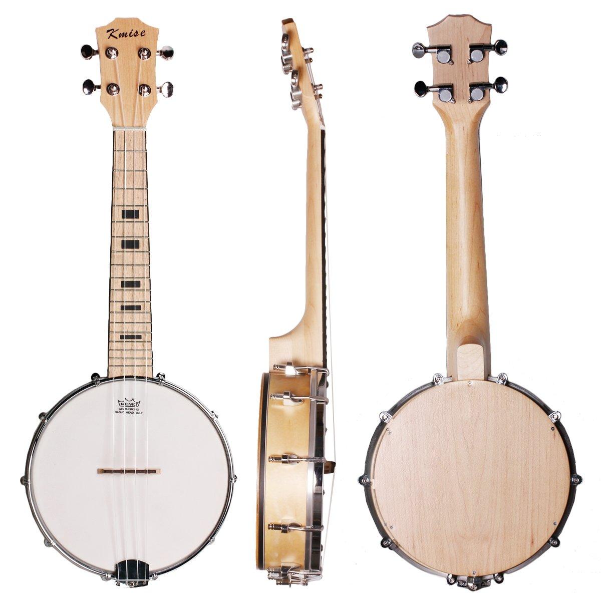 Kmise Banjo Ukulele 4 String Banjo lele Ukelele Uke Concert 23 Inch Size Maple Wood Ltd MI1904-KUS