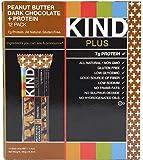 KIND 【カインド プラス ピーナッツバター&ダークチョコレート+プロテイン ナッツバー 12個入り】 【並行輸入商品】