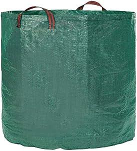 IME Garden Yard Waste Bags Sacks, Reuseable Gardening Lawn Leaf Bag Garden Tote Debris Container Pop up Grass Bin Landscape Pool Leaves Collector,60 Liter