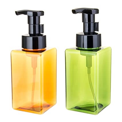 Uviviu 450 ml - Dispensador de jabón en espuma, cuadrado, reutilizable. Botella fabricada