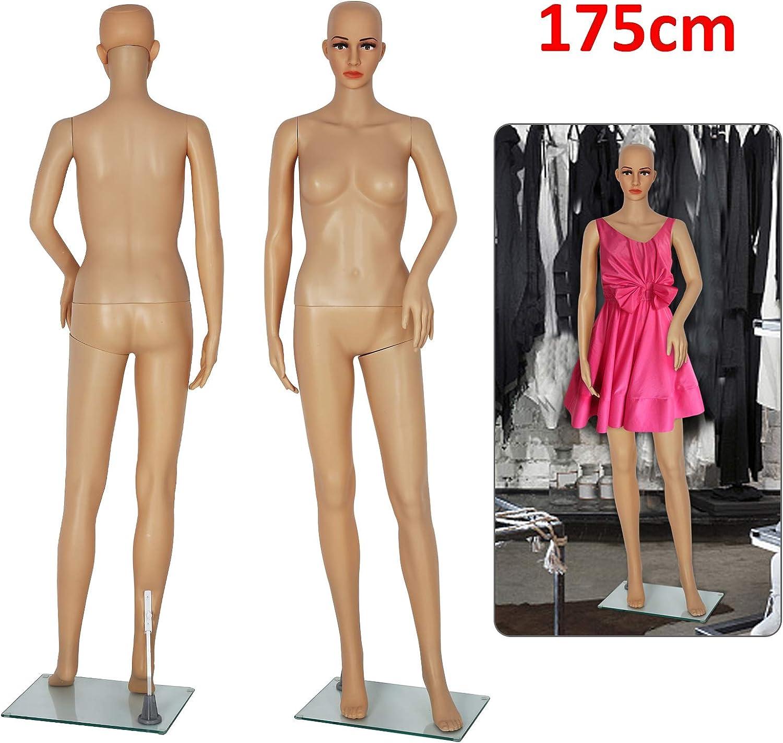 AllRight Schaufensterpuppe Mannequin Schaufensterfiguren Frau Weiblich Schneiderpuppe 360/° Verstellbar Beweglich