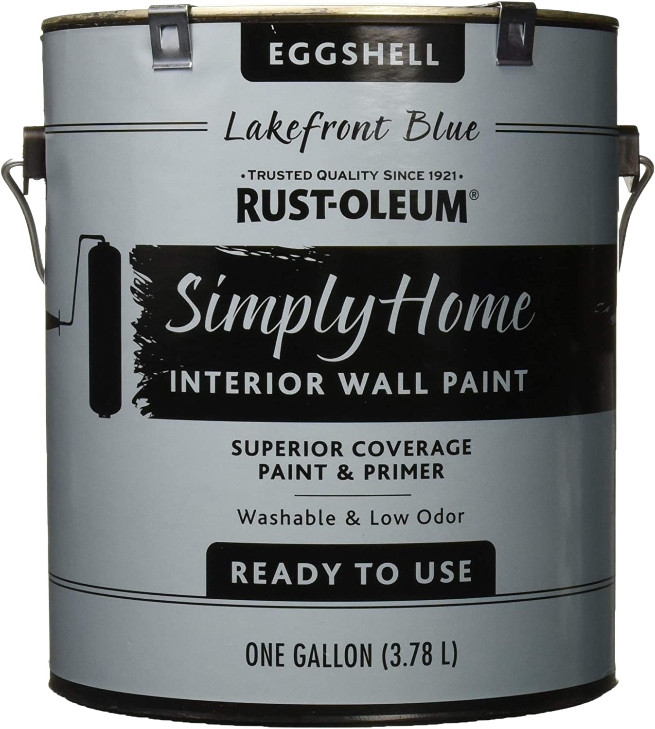 Rust-Oleum Simply Home Interior Wall Paint 332144 Simply Home Eggshell Interior Wall Paint, Lakefront Blue