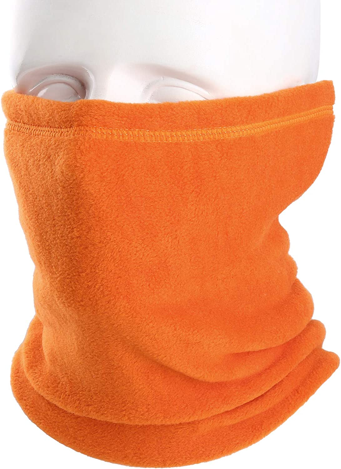 AXBXCX Neck Warmer Gaiter - Windproof Ski Mask - Cold Weather Face Motorcycle Mask Cycling Skull Cap Thermal Scarf for Running Snowboarding Fishing Hunting Off-roading Orange: Clothing
