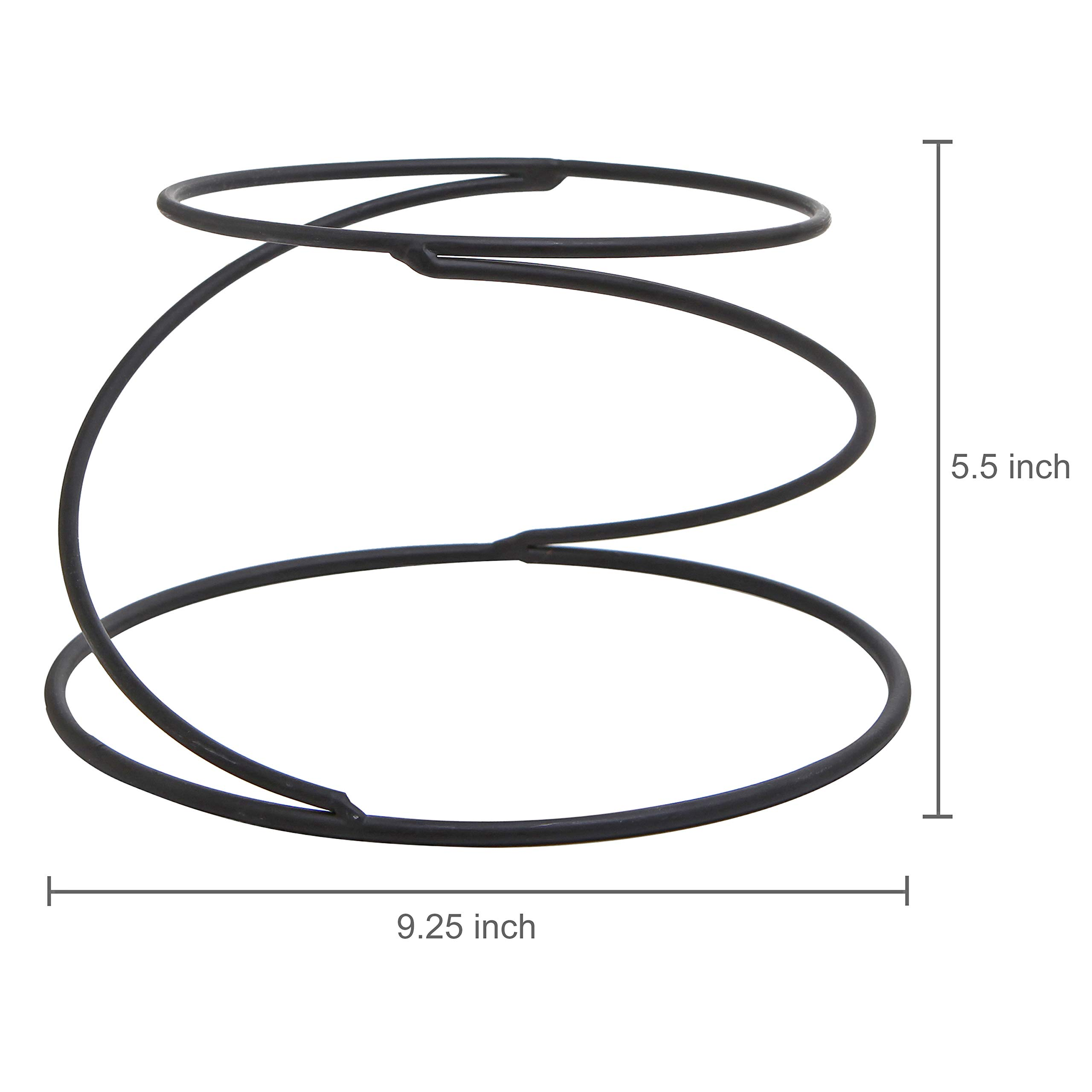 MyGift Set of 4 Metal Spiral Wire Tabletop Pizza Tray Stands, Black by MyGift (Image #6)