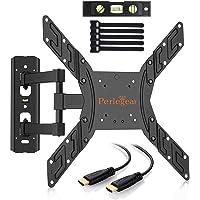 """Perlegear PGMFK1-E - Supporto per Montaggio su Parete per TV LCD da  23-55"""" (58 cm-140 cm), Nero"""