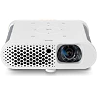 "BenQ GS1 Portable Projector | Cable Free, Splash Proof, 60"" screen @1 metre, with battery, Short Throw, DLP, 720p, 100,000:1 High Contrast Ratio, HDMI for Outdoor Fun"