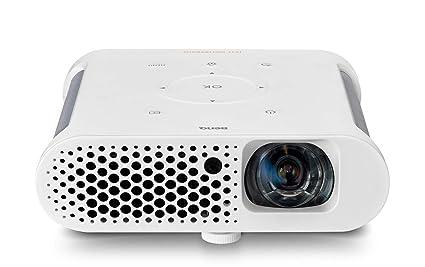 """BenQ GS1 - Proyector portátil (sin Cable, a Prueba de Salpicaduras, Pantalla de 60"""" a 1 Metro, con batería, Tiro Corto, DLP, 720p, elevada relación de ..."""