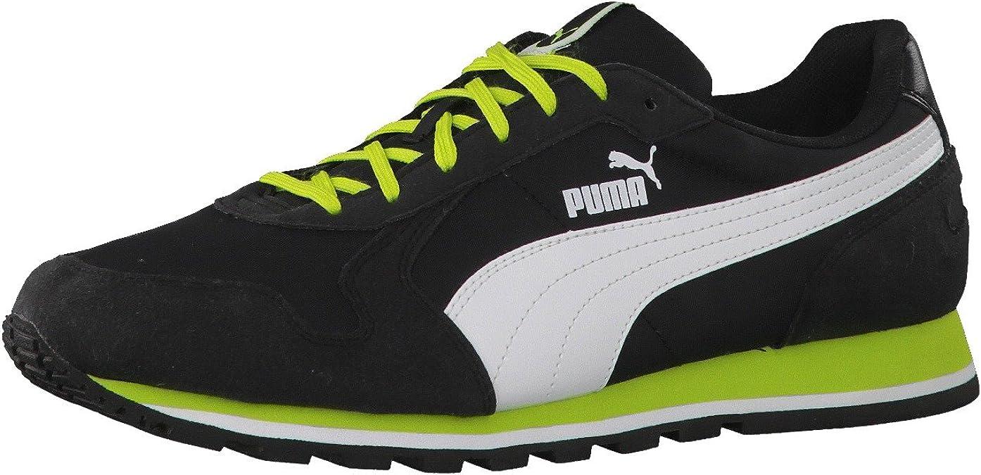 Puma St-Runner, Zapatillas para Hombre, Black/White/Lime Punch, 40 EU: Amazon.es: Zapatos y complementos